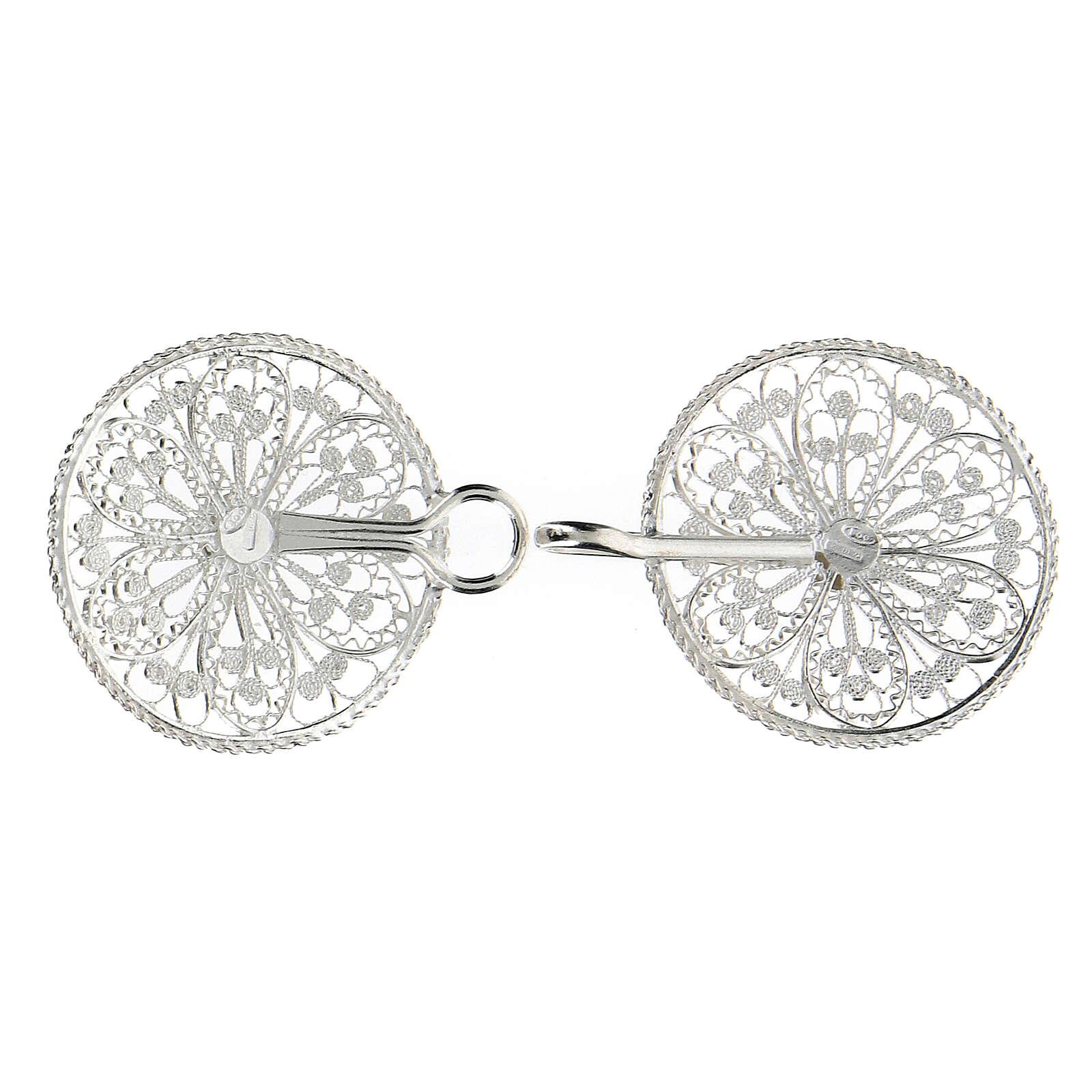 Gancho para capa pluvial con flor de plata 800 4