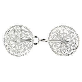 Gancho para capa pluvial con flor de plata 800 s3