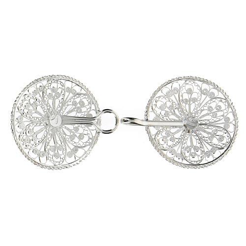 Gancho para capa pluvial con flor de plata 800 3