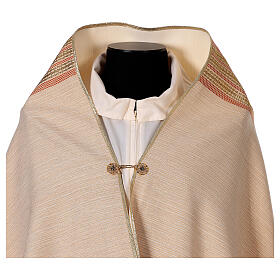 STOCK Velo humeral lana y seda marfil y bordado dorado IHS s5