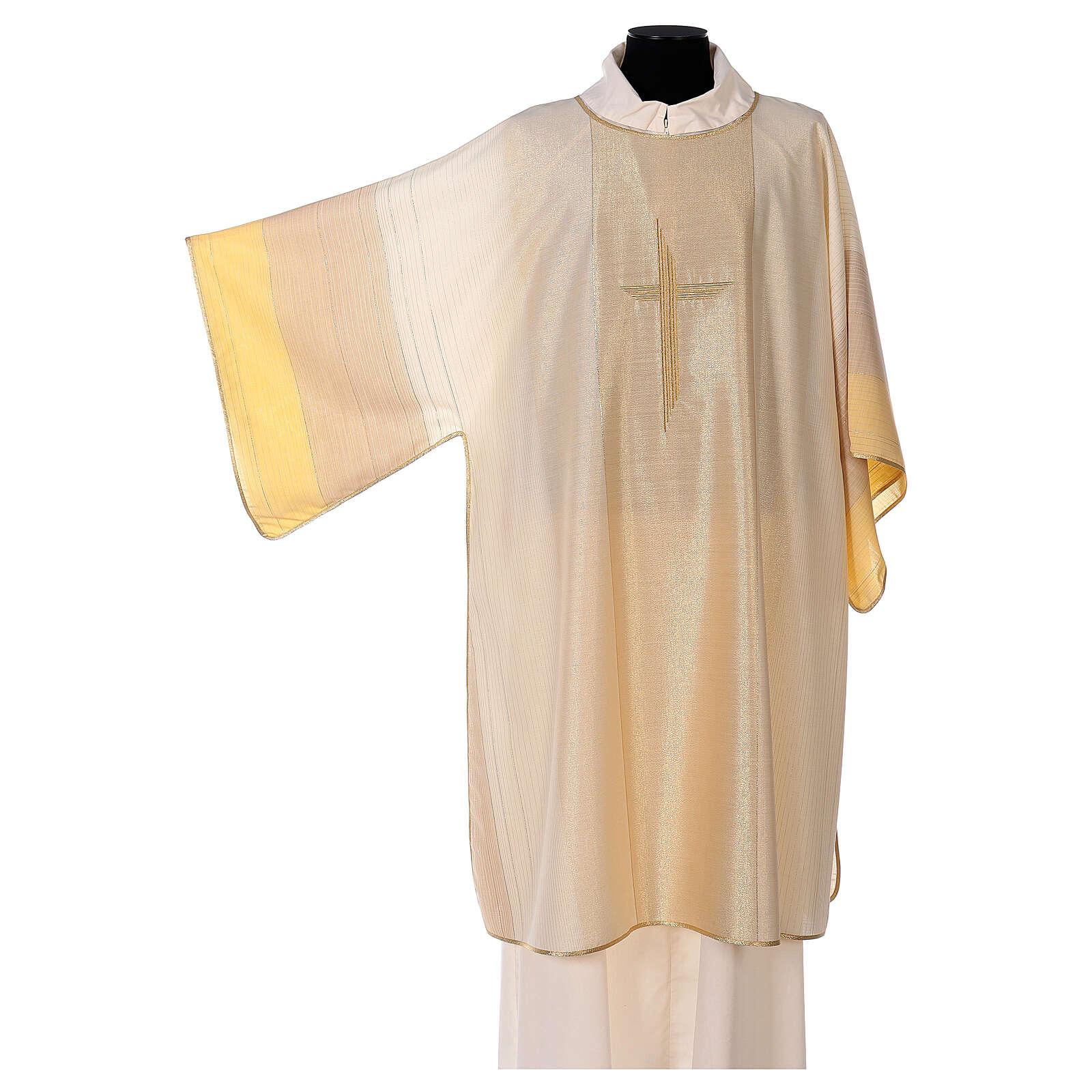 Dalmatica 4 colori con decoro dorato 85% lana 15% lurex 4