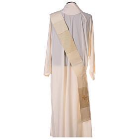 Dalmatica 4 colori con decoro dorato 85% lana 15% lurex s9