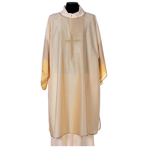 Dalmatica 4 colori con decoro dorato 85% lana 15% lurex 1