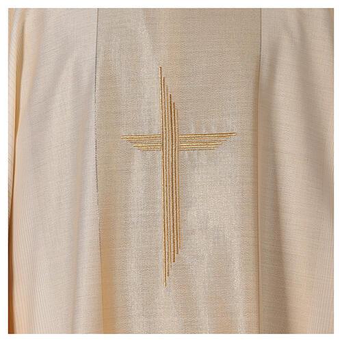 Dalmatica 4 colori con decoro dorato 85% lana 15% lurex 2