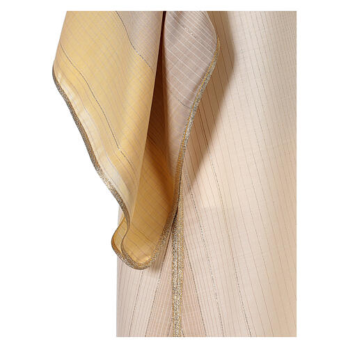 Dalmatica 4 colori con decoro dorato 85% lana 15% lurex 3