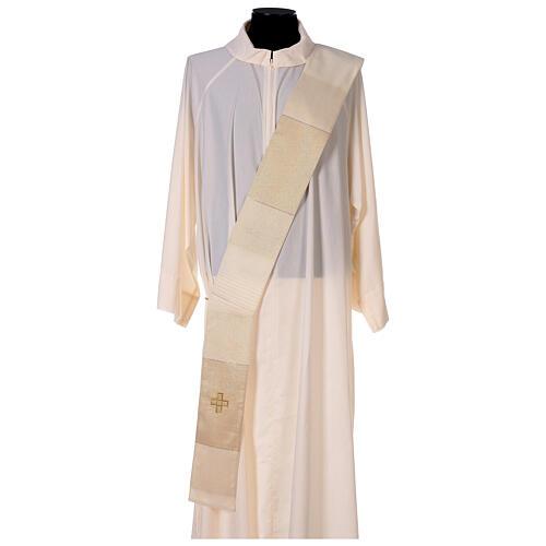 Dalmatica 4 colori con decoro dorato 85% lana 15% lurex 6