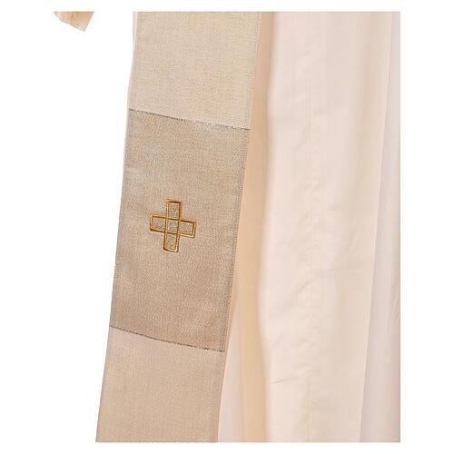 Dalmatica 4 colori con decoro dorato 85% lana 15% lurex 7