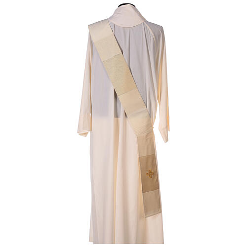 Dalmatica 4 colori con decoro dorato 85% lana 15% lurex 9
