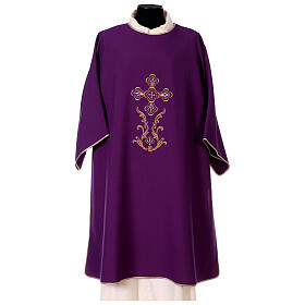 Dalmatic with cross embroidery 100% polyester s1