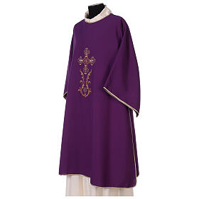 Dalmatic with cross embroidery 100% polyester s3