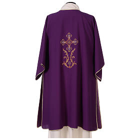 Dalmatic with cross embroidery 100% polyester s4
