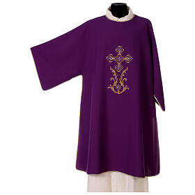 Dalmatic with cross embroidery 100% polyester s5