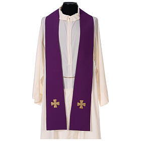 Dalmatic with cross embroidery 100% polyester s8