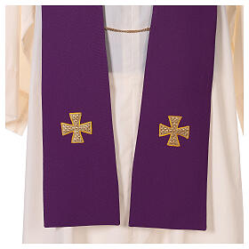 Dalmatic with cross embroidery 100% polyester s9