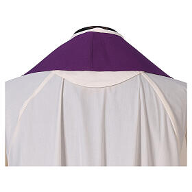 Dalmatic with cross embroidery 100% polyester s10