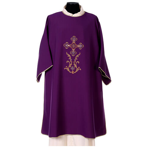 Dalmatic with cross embroidery 100% polyester 1