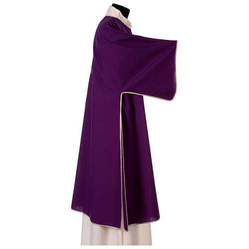 Dalmatic with cross embroidery 100% polyester 6