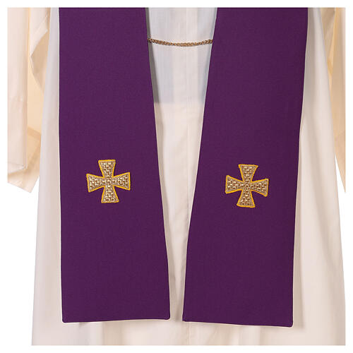Dalmatic with cross embroidery 100% polyester 9