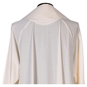 Priest cope textured fabric 100% polyester machine embroidered green stone s13