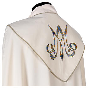 Marian cope 100% polyester machine embroidered lily monogram s4
