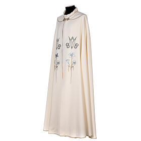 Marian cope 100% polyester machine embroidered lily monogram s5