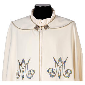 Marian cope 100% polyester machine embroidered lily monogram s7
