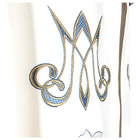 Marian cope 100% polyester machine embroidered lily monogram s8