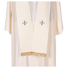 Marian cope 100% polyester machine embroidered lily monogram s11