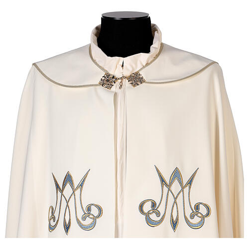 Marian cope 100% polyester machine embroidered lily monogram 7