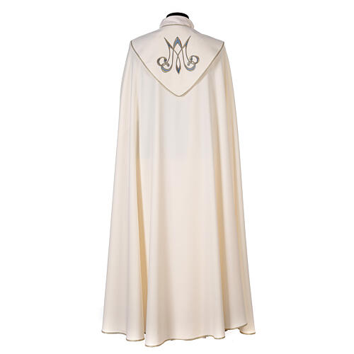 Marian cope 100% polyester machine embroidered lily monogram 9