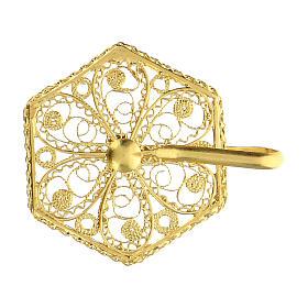 Cope clasp 800 golden silver filigree 6 cm s2