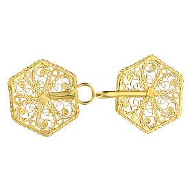 Cope clasp 800 golden silver filigree 6 cm s3