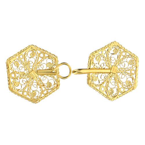 Cope clasp 800 golden silver filigree 6 cm 3