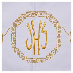 Mantel para mesa decoración dorada y IHS s5