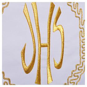 Mantel para mesa decoración dorada y IHS s7
