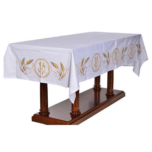 Mantel para mesa decoración dorada y IHS 2