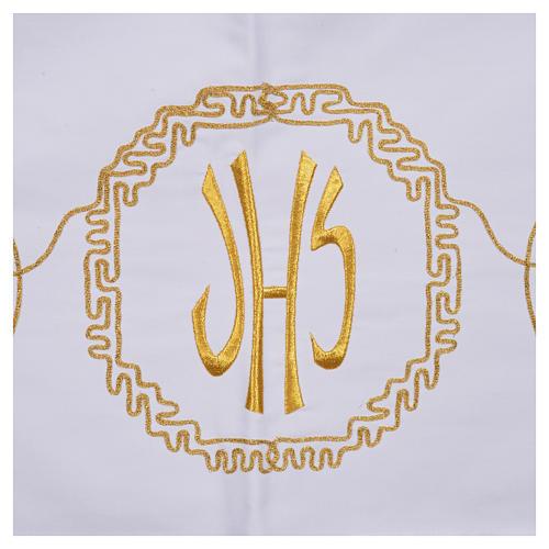 Mantel para mesa decoración dorada y IHS 5