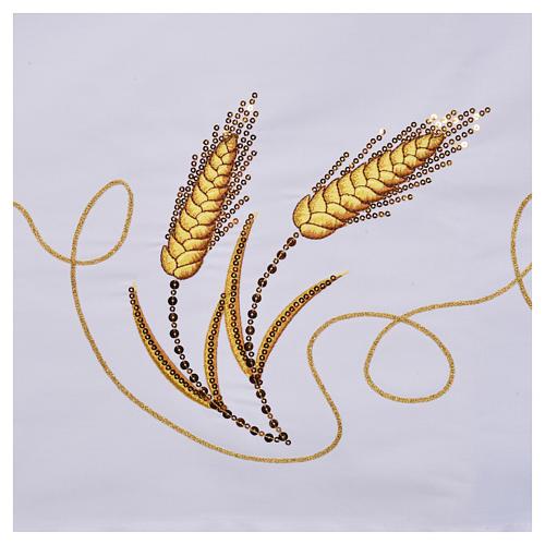 Mantel para mesa decoración dorada y IHS 6