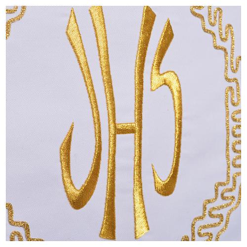 Mantel para mesa decoración dorada y IHS 7