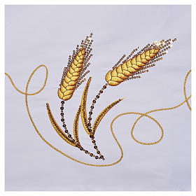 Altar cloth, ears of wheat and IHS embroideries s6