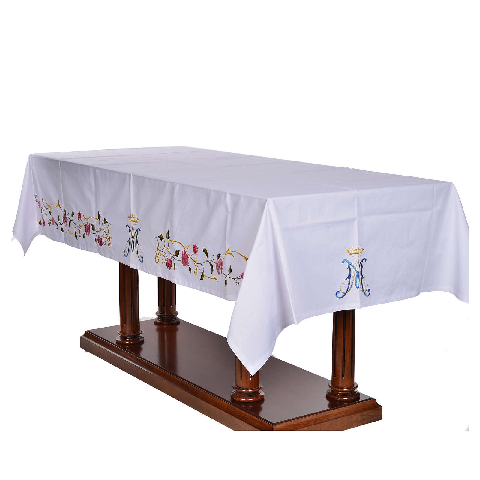 Tovaglia da altare simbolo mariano 45% cotone 55% pol. 4