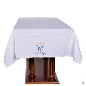 Tovaglia da altare simbolo mariano 45% cotone 55% pol. s4