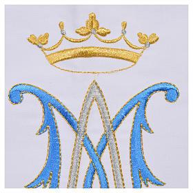 Tovaglia da altare simbolo mariano 45% cotone 55% pol. s6
