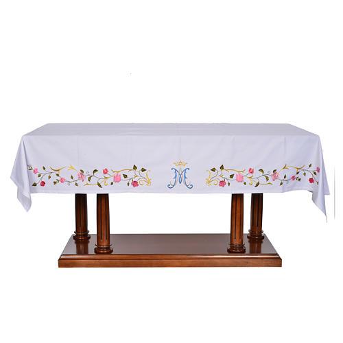 Tovaglia da altare simbolo mariano 45% cotone 55% pol. 1