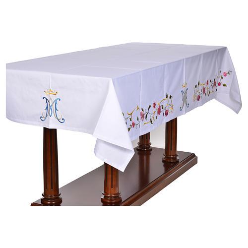 Tovaglia da altare simbolo mariano 45% cotone 55% pol. 2