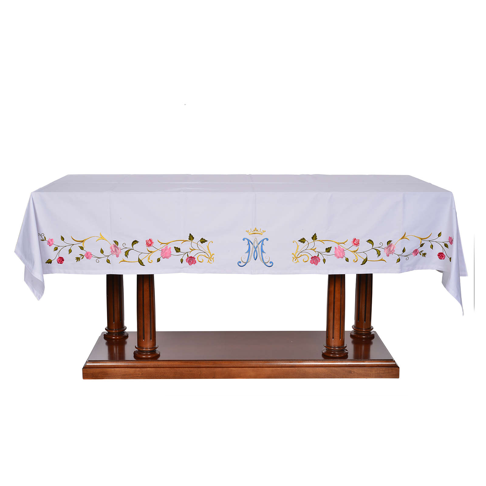 Altar cloth with Marian symbol 45% cotton, 55% polyester 4