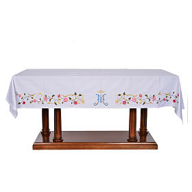 Altar cloth with Marian symbol 45% cotton, 55% polyester s1