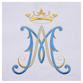 Altar cloth with Marian symbol 45% cotton, 55% polyester s7