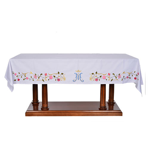 Altar cloth with Marian symbol 45% cotton, 55% polyester 1