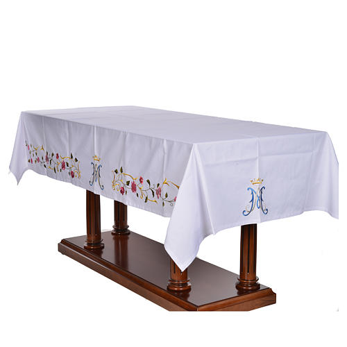 Altar cloth with Marian symbol 45% cotton, 55% polyester 3